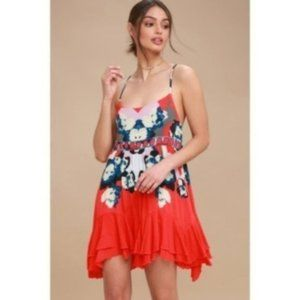 Free People Sweet Lucy Slip, Red, Size S